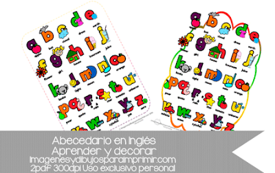 abecedario en ingles para niños