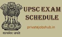 UPSC Exam Schedule