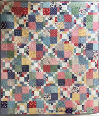 'Cross the Scraps' quilt made by Margie,  Quilted by Frances Meredith
