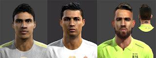 Faces, Raphaël Varane, Cristiano Ronaldo, Nicolas Otamendi, Pes 2013