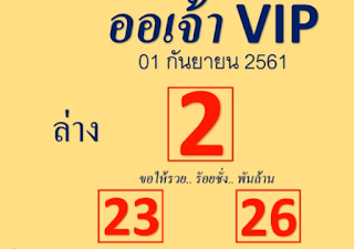 Thai Lottery 123 Winning Tips For 01-10-2018