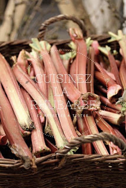 10 recettes sur la rhubarbe :tartes, gateaux, verrines
