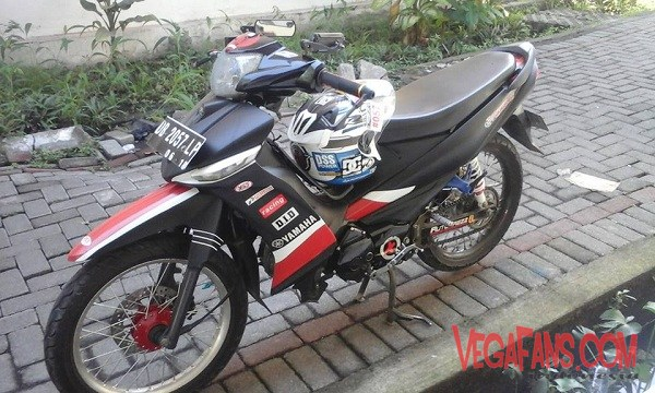 Vega ZR Modif Road Race Hitam Simple