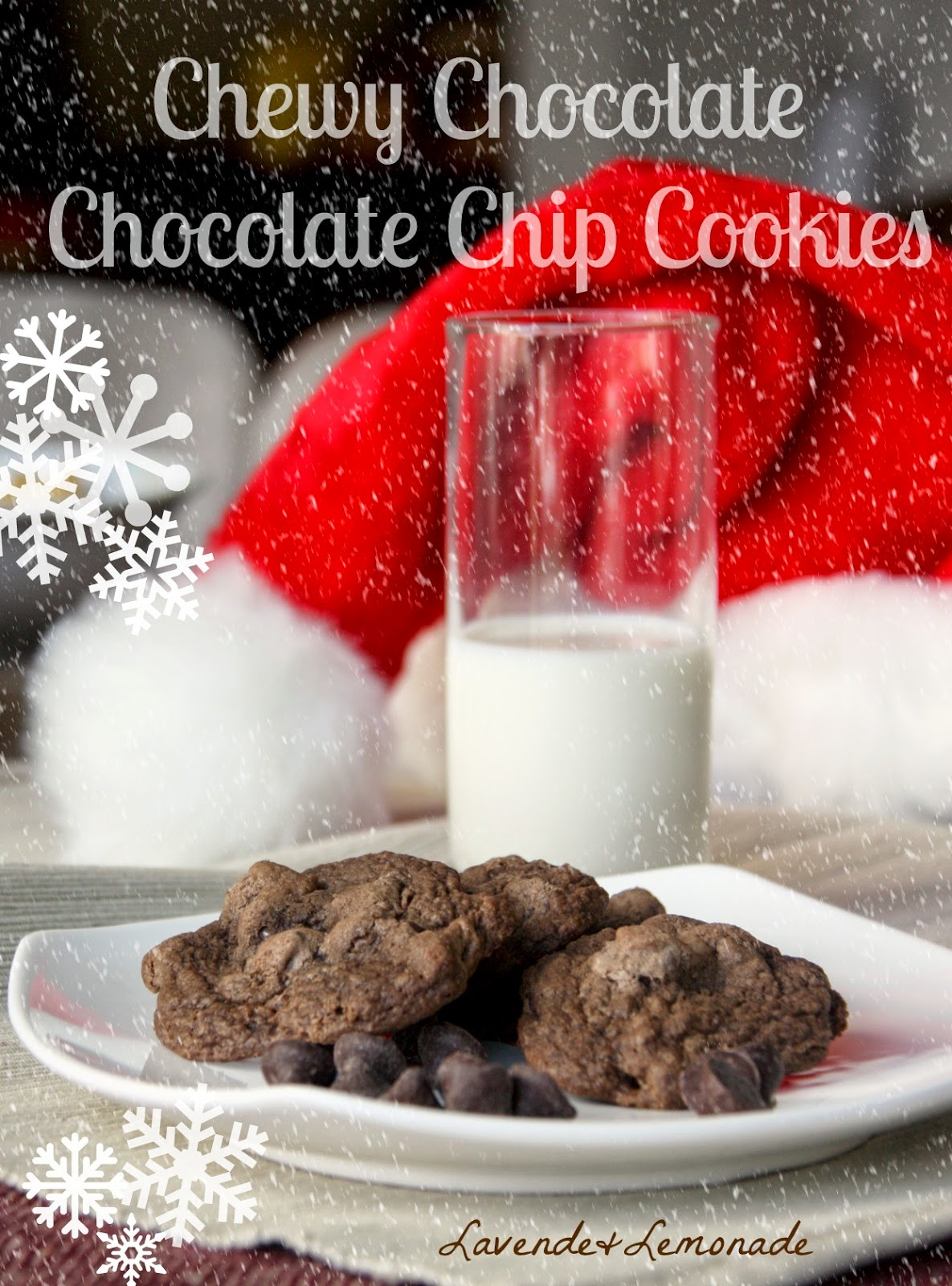 Santa's FAVORITE Christmas cookies - Chewy Chocolate Chocolate Chip!