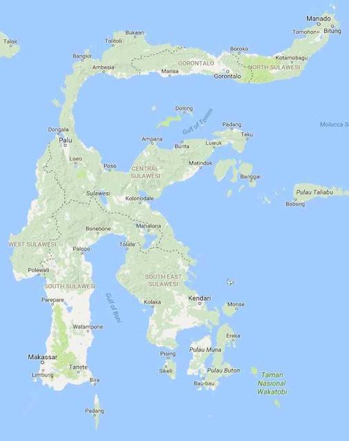 sulawesi nomer 4 pulau terbesar di Indonesia