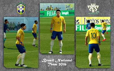 PES 2013 Brasil 2016 Home & Away Kits by kIkEJG17