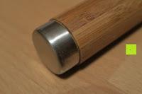 Kopf: Lumaland Cuisine Küchenrollenhalter aus Bambus mit Edelstahl Spitze, Ø ca. 14 cm x 32 cm