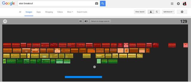 Παίξε Atari breakout από την αναζήτηση εικόνων της Google