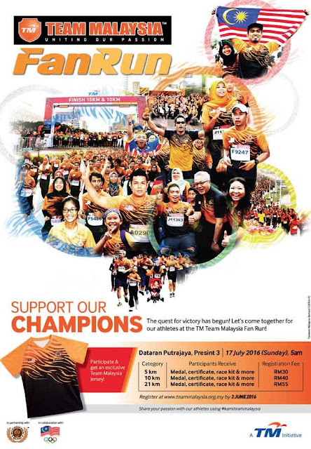 TM Team Malaysia Fan Run (Uniting Our Passion) 17 July 2016