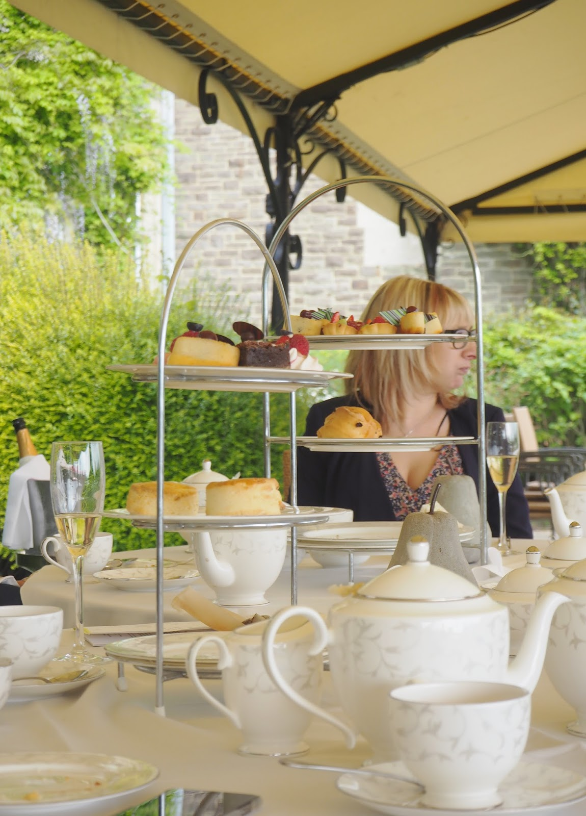 Afternoon tea review at South Lodge in Horsham - afternoon tea stand