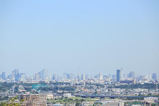 枡形展望台から見える東京タワー