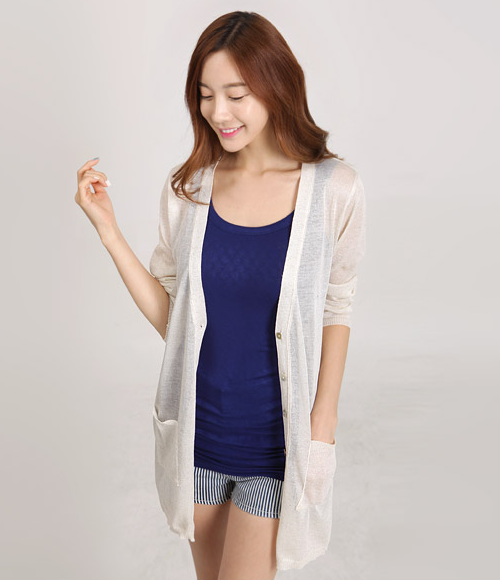 Loose Fit V-Neck Cardigan