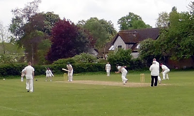 Cricket being played at Brigg Recreation Ground during the 2018 season - see Nigel Fisher's Brigg Blog