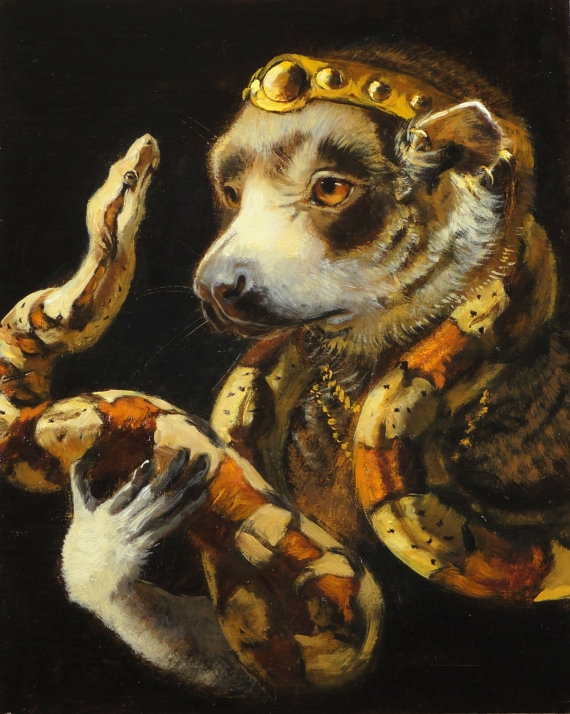 Olivia Beaumont | The Baroque Beasts paintings