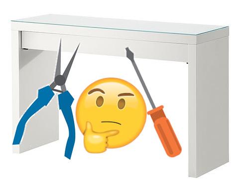 MALM Schminktisch Frisiertisch IKEA Schublade weiter raus HACK DIY IKEA