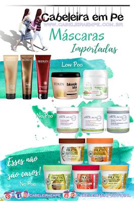 Máscaras Importadas Liberadas para No Poo e Low Poo - Matrix Biolage, Redken, Wella e Garnier Fructis