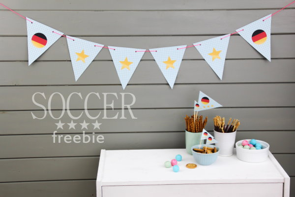 DIY Fussball Deko Freebie
