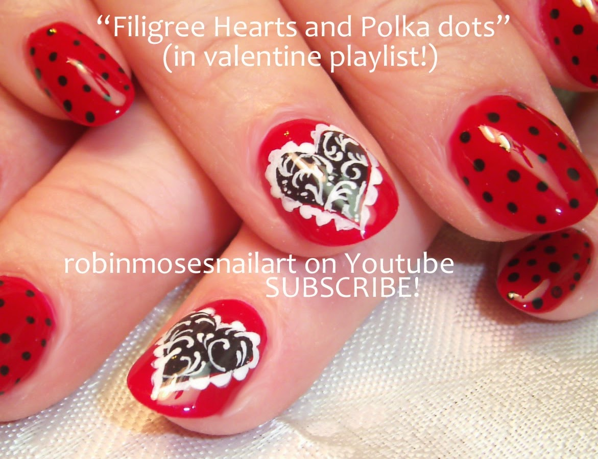 Nail Art By Robin Moses Valentines Day Nail Art Red French