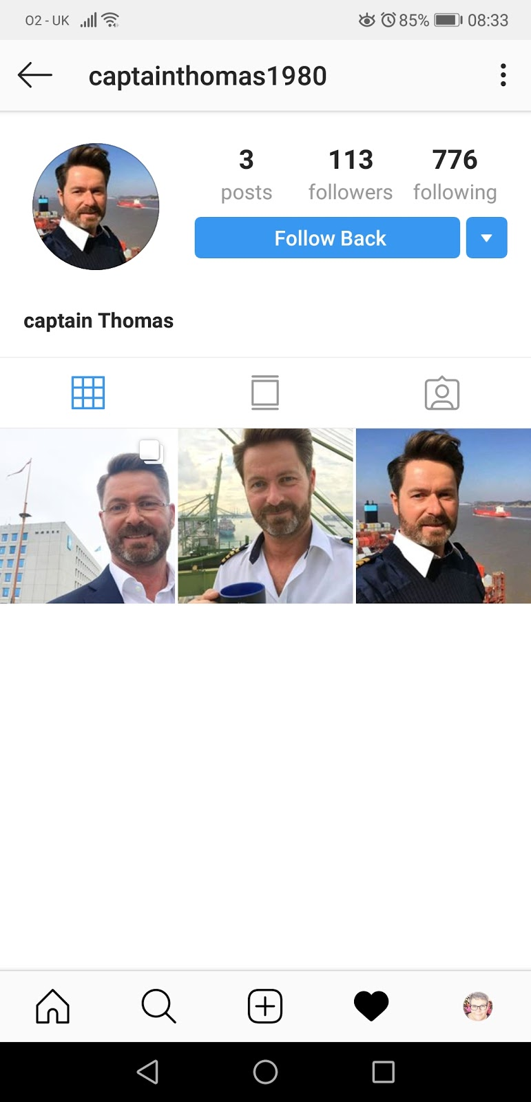 InstaScams: More fakes using the images of Captain Thomas