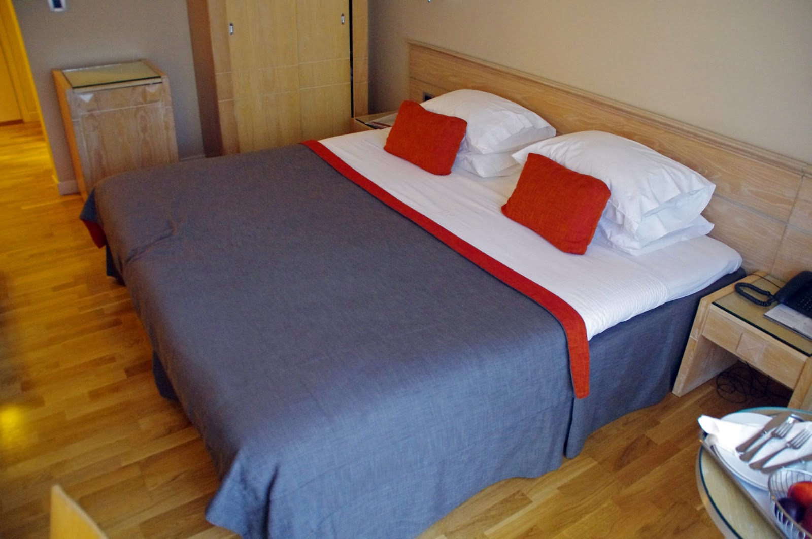 The Herodion Hotel bed
