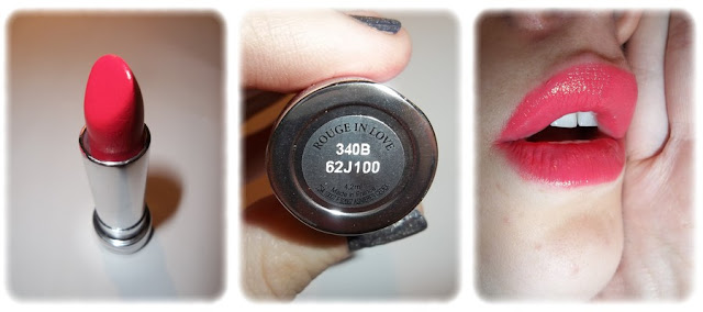 Swatch Rouge à Lèvres Rouge in Love - Lancôme - Teinte 340B Rose Boudoir