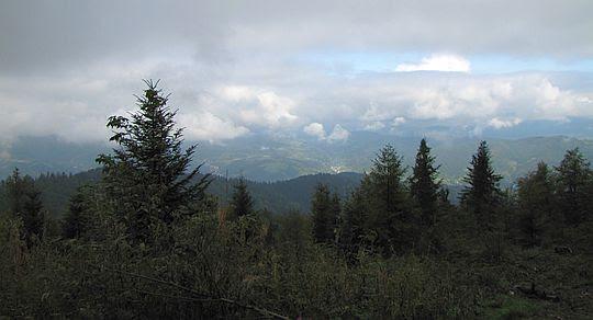 Widok w stronę doliny Ochotnicy.