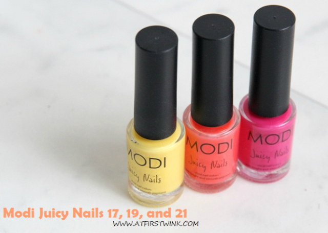Modi Juicy nails 17, 19, and 21