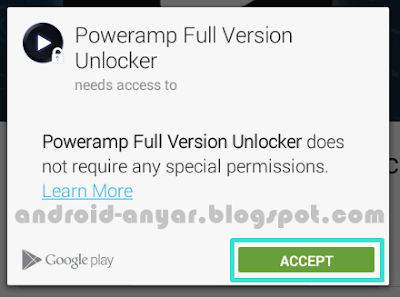 Beli Apl PowerAmp Full Version Unlocker pakai Pulsa