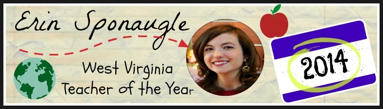 Erin Sponaugle, 2014 West Virginia Teacher of the Year