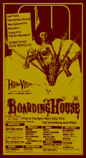 Theatrical release ad mat for BOARDINGHOUSE (1982)