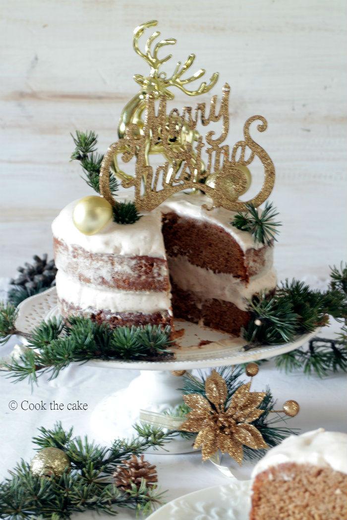 gingerbread-cake, naked-cake. bizcocho-de-jengibre