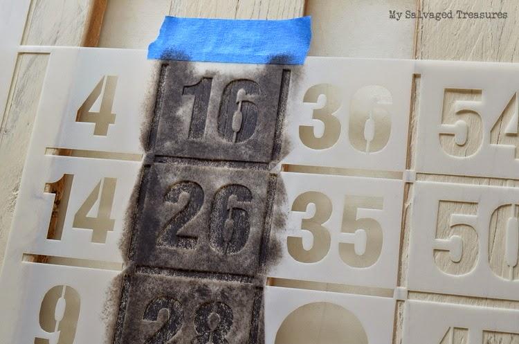 #MySalvagedTreasures Bingo stencil DIY #oldsignstencils tutorial