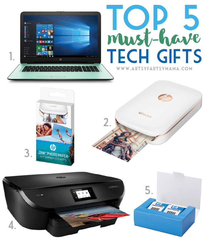 Top 5 Must-Have Tech Gifts at artsyfartsymama.com #HPonQVC #HPSprocket