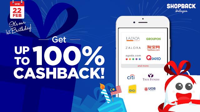 ShopBack Malaysia 1 year anniversary