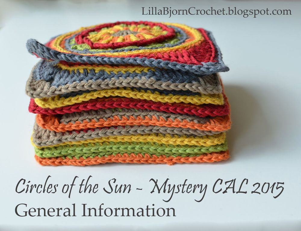 Circles of the Sun - Mystery CAL in overlay crochet - general information - www.lillabjorncrochet.com
