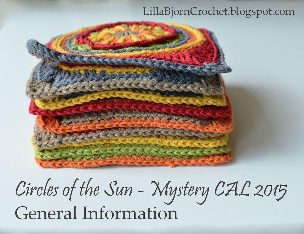 Circles of the Sun - Mystery CAL in overlay crochet - general information - www.lillabjorncrochet.com