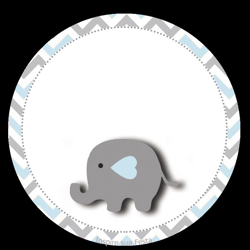 Elefante Bebé en Celeste y Gris: Wrappers y Toppers para Cupcakes ...