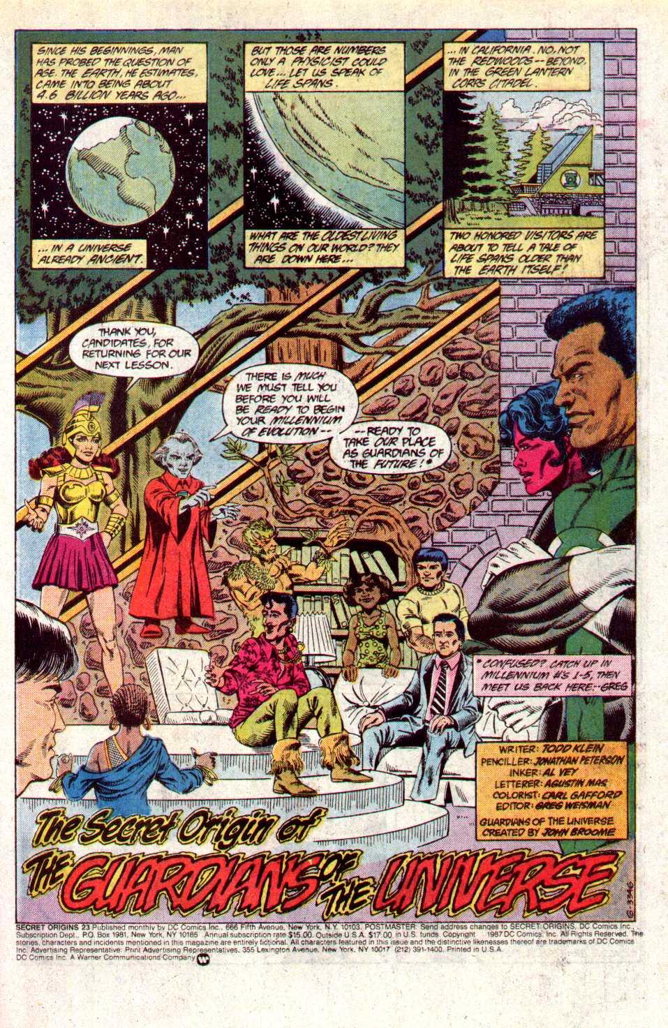 Read online Secret Origins (1986) comic -  Issue #23 - 2