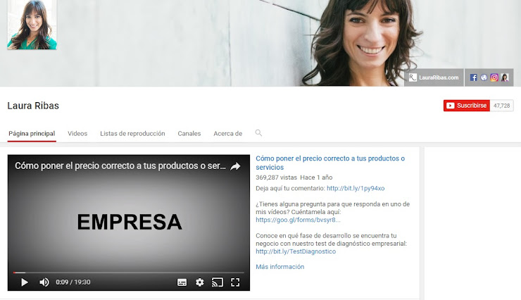 Youtube Laura Ribas