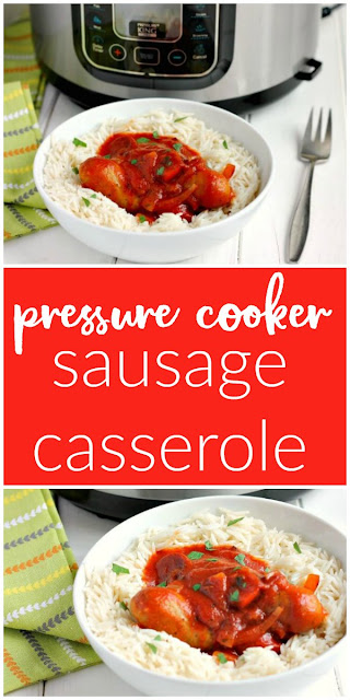Pressure Cooker Sausage Casserole made in the Pressure King Pro