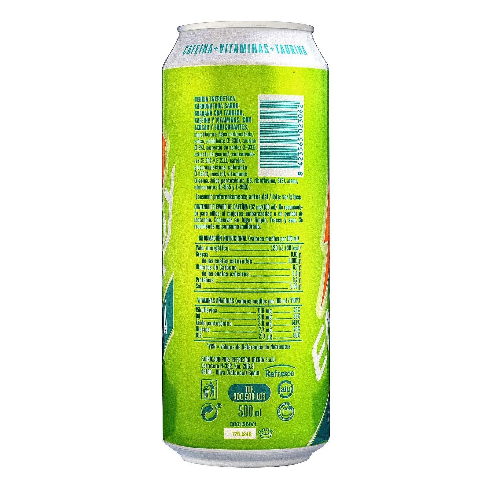 Bebida energética Energy Drink sabor guaraná Hacendado