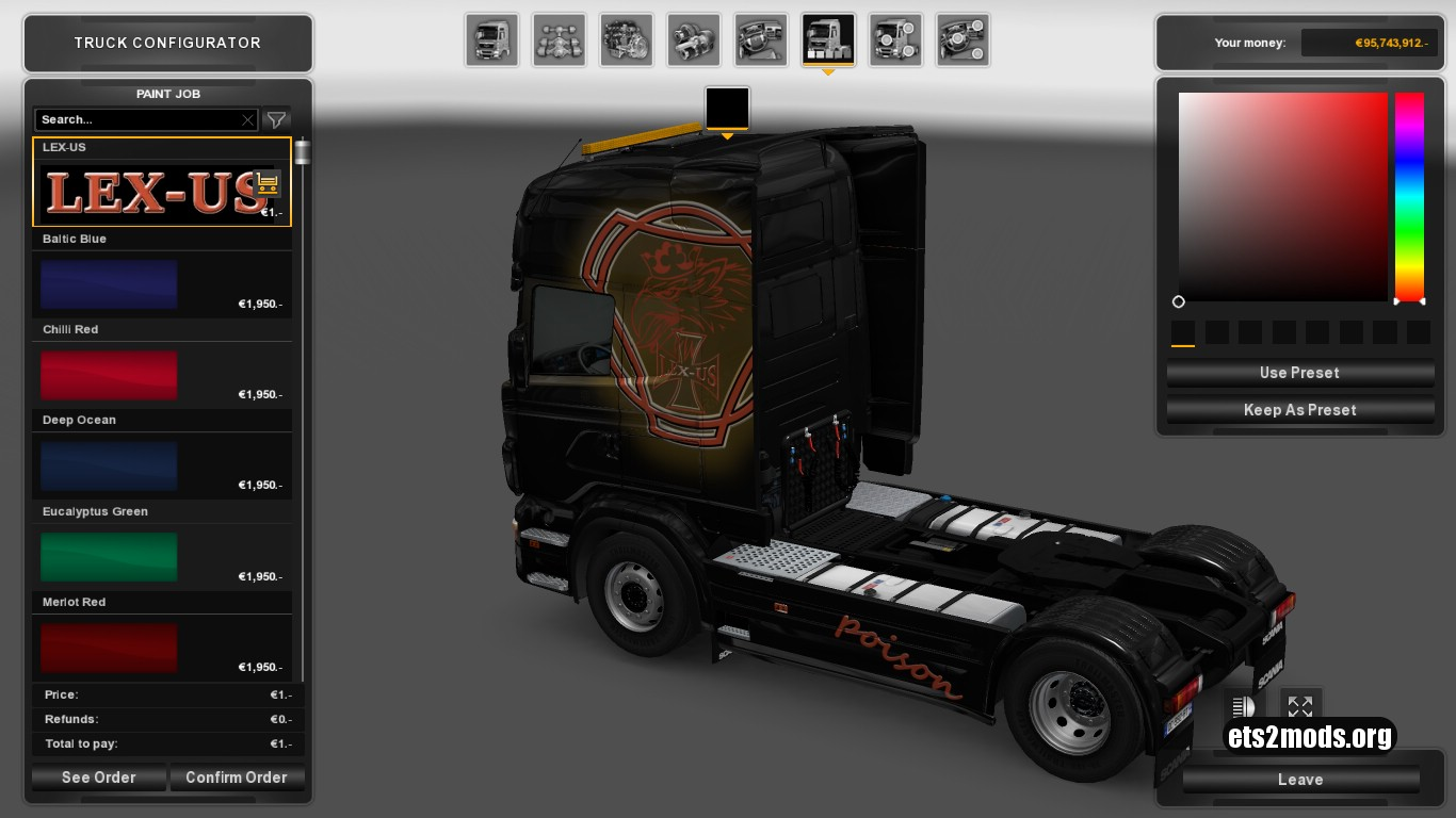 Lex-Us Skin for Scania RJL