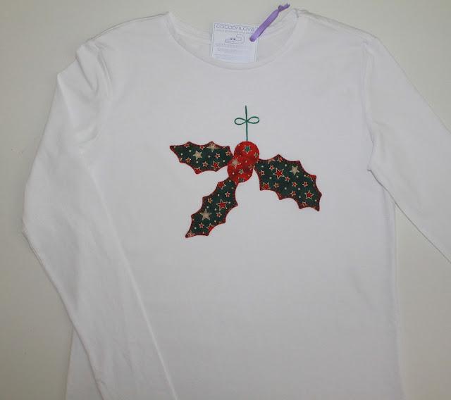 camiseta navidad acebo
