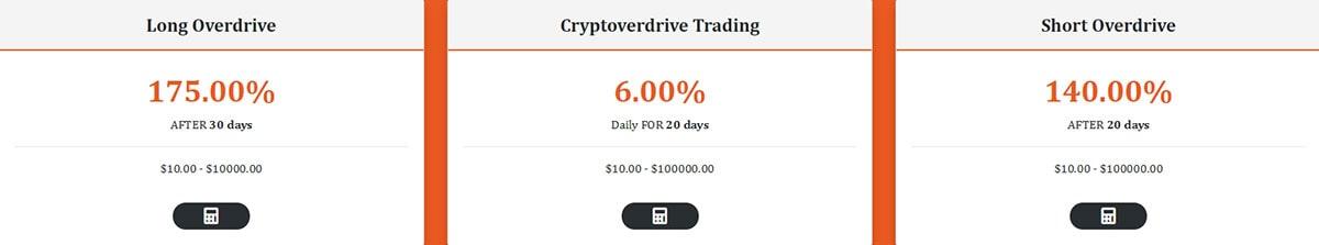 Инвестиционные планы Cryptoverdrive