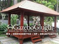 Gazebo Glugu Kayu Kelapa untuk Rumah Makan yang Laris di Buru