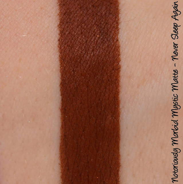 Notoriously Morbid Never Sleep Again Mystic Matte Swatches & Review