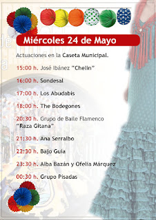 Feria de la Manzanilla 2017 - Programa día 24 de mayo