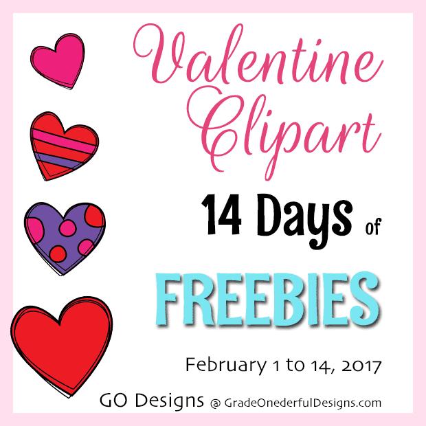 Lots of free Valentines clip art. #valentines #clipart #valentinesclipart #valentinesfreebies #gradeonederful