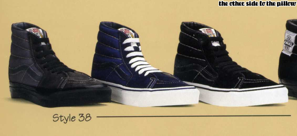8c8265d795fd vintage VANS black black SK8-HI style  38 MADE IN USA 1990 s off the wall  US7.5 US8