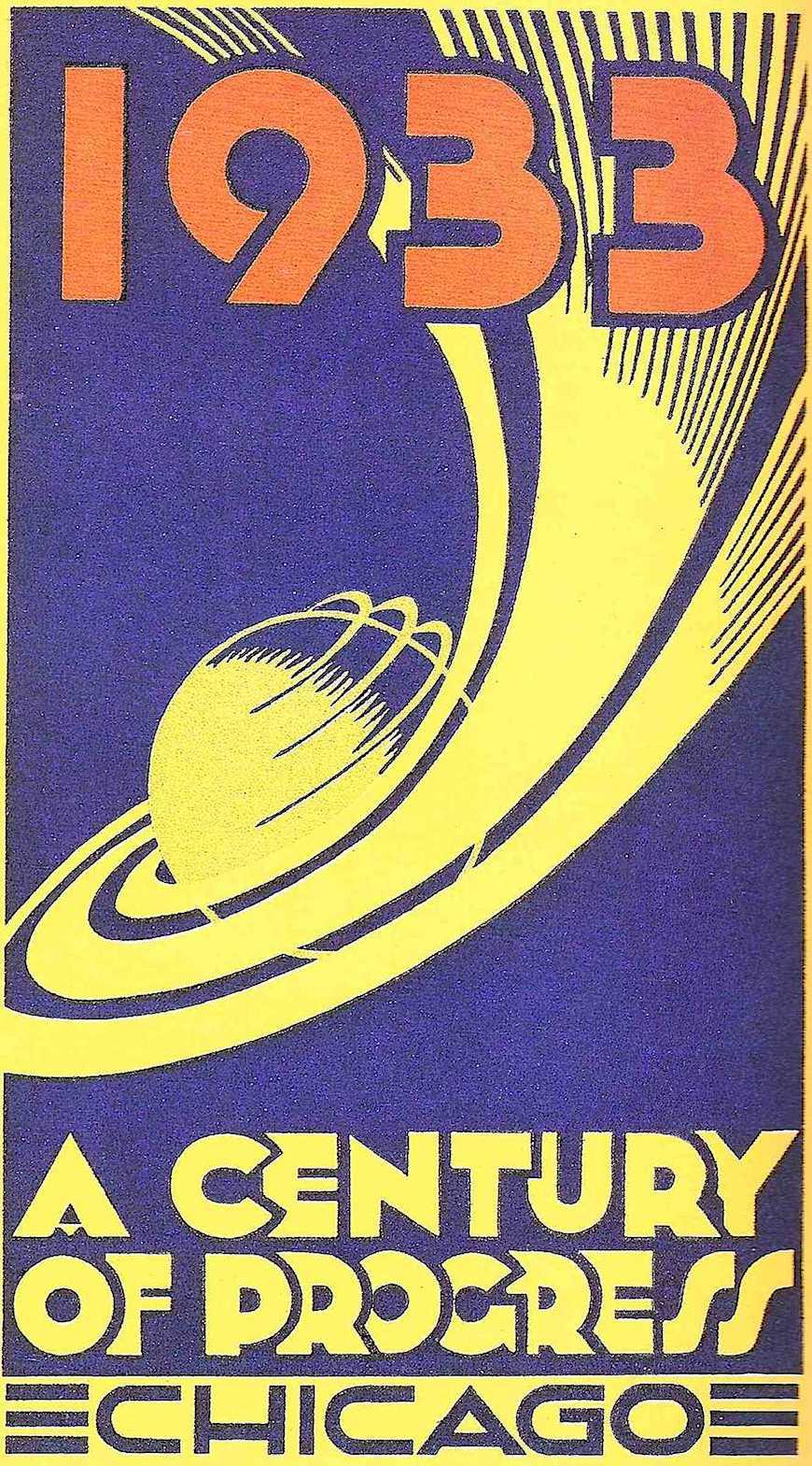 a 1933 Chicago World's Fair poster, A century of Progress